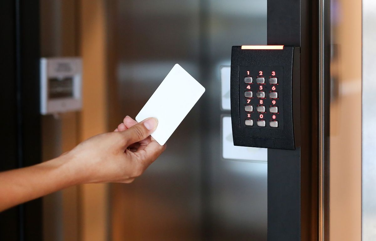 Person entering through an Access Control system Perth